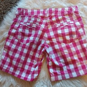 American Eagle shorts pink plaid size 2